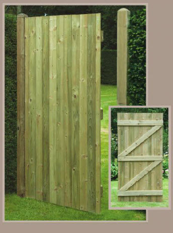 Flat Tongue and Groove Gate 180cm x 90cm